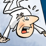 Cartoon voor het ABP (pensioenfonds voor overheid en onderwijs)