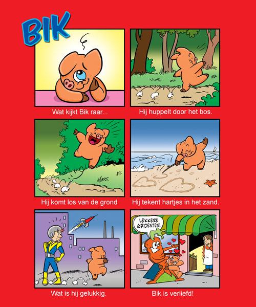 Strip 'Bik' voor het kinderblad Okki