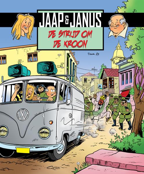 Cover van stripboek 'Jaap & Janus de Strijd om de Kroon'