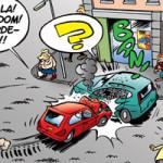 Scène uit de strip 'Theo & Rietje', gepubliceerd in het stripblad Stripnieuws